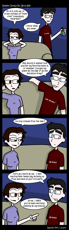 Questionable Content Retrospectus Dress Code Comic 26